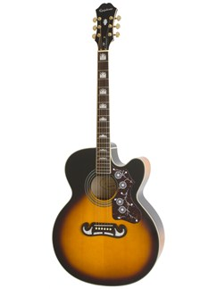 Epiphone: EJ-200CE (Vintage Sunburst/Gold Hardware) Instruments   Electro-Acoustic Guitar