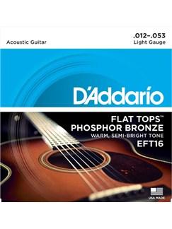 D'Addario: EFT16 Flat Tops, Light, 12-53  | Guitar