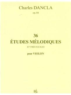 Charles Dancla: 36 Études Mélodiques Et Très Faciles Books | Violon