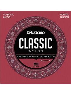 D'Addario: Classic Nylon EJ27N Classical Guitar String Set - Normal Tension  | Classical Guitar