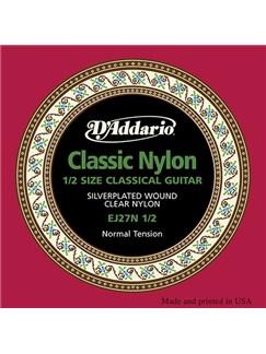 D'Addario: EJ27N 1/2 Student Nylon Fractional Classical Guitar Strings, Normal Tension  | Classical Guitar