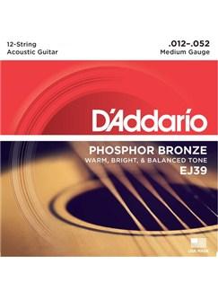 D'Addario: EJ39 12-String Phosphor Bronze, Medium, 12-52  | Guitar