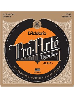 D'Addario: EJ43 Pro-Arte Nylon Classical Guitar Strings, Light Tension  | Classical Guitar