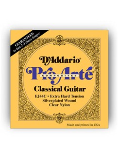 D'addario: EJ44C Pro-Arte Composite Extra Hard Tension Classical Guitar String Set  | Classical Guitar
