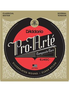 D'Addario: EJ45C Pro-Arté Composite, Normal Tension  | Classical Guitar