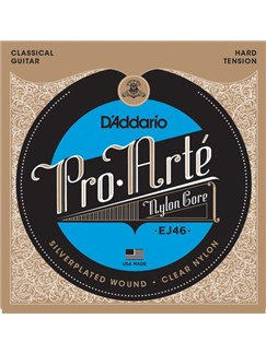 D'Addario: EJ46 Pro-Arte Nylon Classical Guitar Strings, Hard Tension  | Classical Guitar