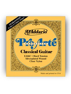 D'addario: EJ46C Pro-Arte Composite Hard Tension Classical Guitar String Set  | Classical Guitar