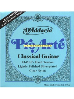 D'Addario: Pro Arte Composites EJ46LP Lightly Polished Classical Guitar Strings - Hard Tension  | Classical Guitar