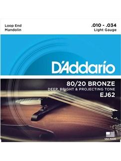 D'Addario: EJ62 Bronze Mandolin Strings - Light (.010-.034)  | Mandolin