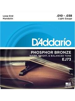 D'Addario EJ73: Phosphor Bronze Mandolin Strings - Light (.010-.038)  | Mandolin