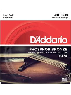 D'Addario: EJ74 Phosphor Bronze Mandolin Strings - Medium (.011-.040)  | Mandolin