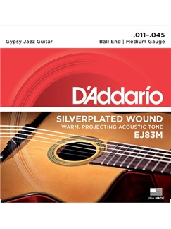 D'Addario: EJ83M Gypsy Jazz, Ball End, Medium, 11-45  | Guitar