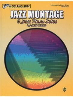 Jazz Montage: 9 Jazz Piano Solos Libro | Piano y Guitarra(Diagramas)