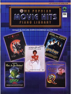 WB Popular Movie Hits: Piano Library - Late Intermediate Level Five CD, CD-Roms / DVD-Roms y Libro | Piano, Voz