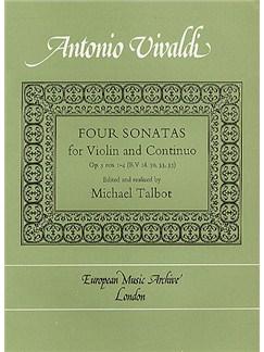 Antonio Vivaldi: Four Sonatas For Violin Books | Violin, Continuo