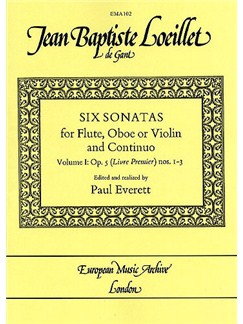 Jean Baptiste Loeillet: Six Sonatas - Volume 1 Books | Flute, Oboe, Violin, Continuo