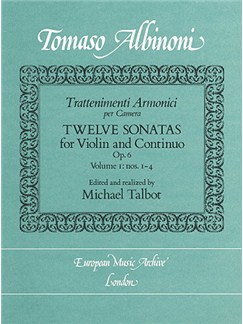 Trattenimenti armonici per camera - Twelve Sonatas (Op. 6 No1-4)  Volume 1 Books | Piano, Piano Accompaniment
