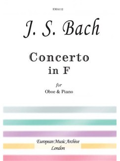 J.S. Bach: Concerto In F (Oboe/Piano) Books | Oboe, Piano Accompaniment
