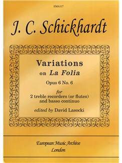 Johann Christian Schickhardt: Variations On 'La Folia' Op.6 No.6 Books | Bassoon, Piano Accompaniment