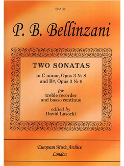 Paolo Benedetto Bellinzani: Two Sonatas Books | Treble Recorder, Continuo