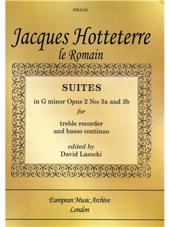 Jacques  Hotteterre Le Romain: Suites In G minor Op.2 No.3a/3b Books | Alto (Treble) Recorder, Continuo