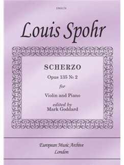Scherzo Op. 135 No. 2 (from 6 Salon Pieces) (Violin & Piano) Books | Piano, Piano Accompaniment