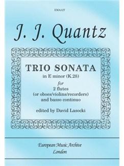 Johann Joachim Quantz: Trio Sonata In E Minor (K.28) Books | Flute, Continuo, Piano Chamber