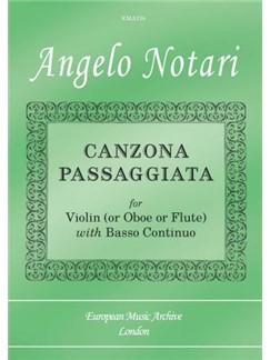 Angelo Notari: Canzona Passaggiata Books | Violin, Flute, Oboe, Piano Accompaniment