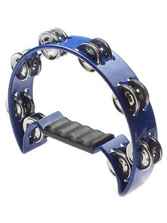 Stagg Music: Cutaway Tambourine (Blue) Instruments   Percussion