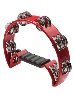 Stagg Music: Cutaway Tambourine (Red) Instruments | Percussion