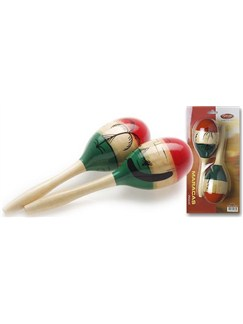 Stagg Music: Large Mexican-Style Maracas Instruments | Maracas