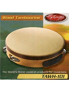 Stagg Music: Pre-Tuned Tambourine (10 inch) Instruments | Percussion