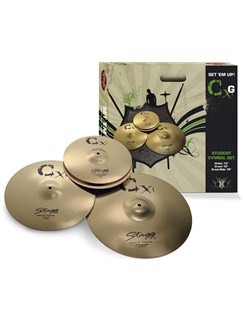 Stagg: Brass Cymbal Starter Set Instruments | Percussion, Drums