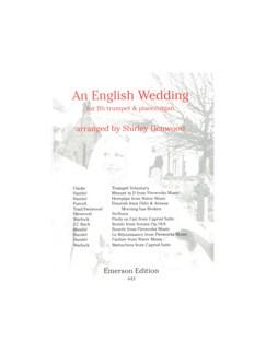 An English Wedding Books | Trumpet