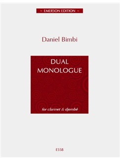 Daniel Bimbi: Dual Monologue Books | Clarinet, Percussion (Djembé)