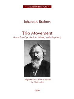 Brahms: Trio Movement For Clarinet Books | Clarinet, Piano Accompaniment