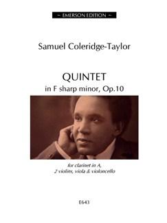 Samuel Coleridge-Taylor: Quintet In F Sharp Minor Op.10 (Score/Parts) Books   Clarinet (Duet), Violin (Duet), Viola (Duet), Cello (Duet)
