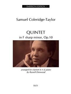 Samuel Coleridge-Taylor: Quintet In F Sharp Minor Op.10 (Clarinet/Piano) Books | Clarinet, Piano Accompaniment