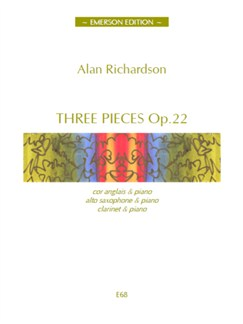 Alan Richardson: Three Pieces Op.22 Books | Cor Anglais, Piano Accompaniment