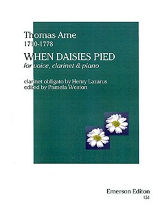 Thomas Arne: When Daisies Pied Books | Soprano, Clarinet, Piano Accompaniment