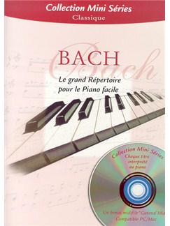 J.S.Bach: Le Grand Repertoire Pour Le Piano Facile Books and CDs | Piano