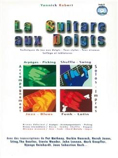 Yannick Robert: La Guitare Aux Doigts CD et Livre | Tablature Guitare