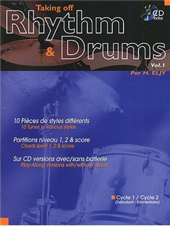 Taking Off Rhythm & Drums Volume 1 Books and CDs | Drums
