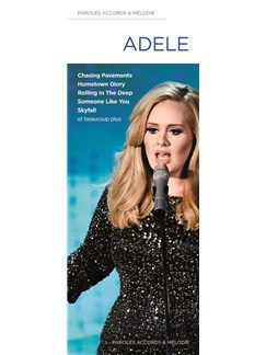 Adele: Paroles, Accords & Melodies (Lyrics, Chords And Melody) Books | Voice, Melody Line, Lyrics & Chords