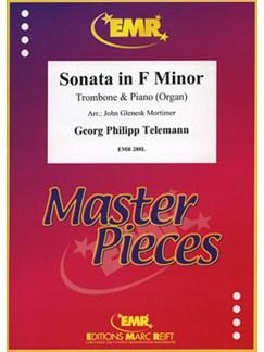 Georg Philipp Telemann: Sonata In F Minor - Trombone/Piano Books | Trombone, Piano Accompaniment