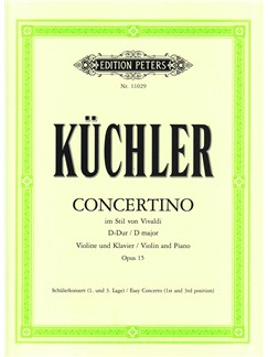 Ferdinand Küchler: Concertino In D In The Style Of Vivaldi Op.15 Books | Violin, Piano Accompaniment