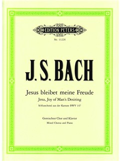 J.S. Bach: Jesu Bleibet Meine Freude (Cantata BWV 147) - German Vocal Score Books | SATB, Piano Accompaniment