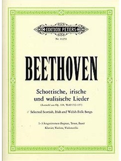 Ludwig van Beethoven:  Scottish And Irish Songs Books | Soprano, Tenor, Bass Voice, Piano, Violin, Cello
