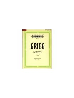 Edvard Grieg: Sonata For Violin & Piano No. 1 In F - Op. 8 Books | Violin, Piano Accompaniment