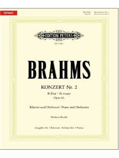 Johannes Brahms: Piano Concerto No.2 In Bb Major Op.83 Books | Piano Duet